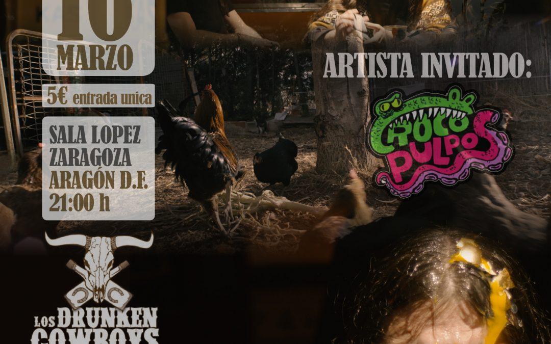 Cartel del concierto del 16 de marzo en la Sala López con los Drunken Cowboys