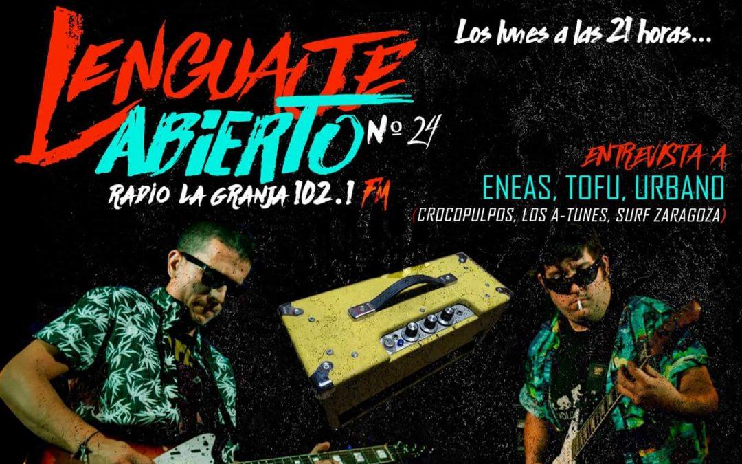 Banner programa 24 Lenguaje Abierto Radio La Granja especial Surf